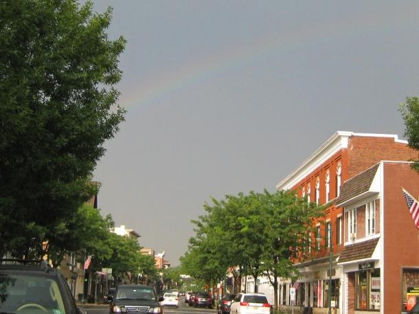 Rainbow on Main Street